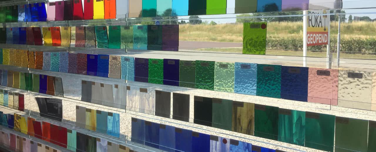 Gekleurde glassoorten