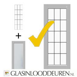 Glasmontage (per raampaneel)