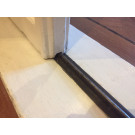 Schuifdeur onderrail messing (onbehandeld)