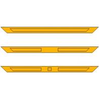 Bovenpaneel ensuite (spiegelstuk) - 2 vakken