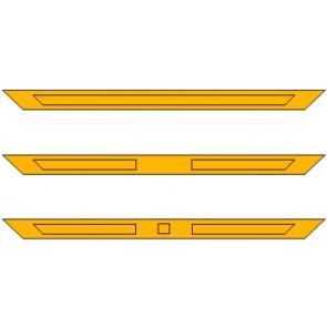 Bovenpaneel ensuite (spiegelstuk) - 3 vakken