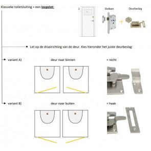 Toiletsluiting vrij-bezet ROND