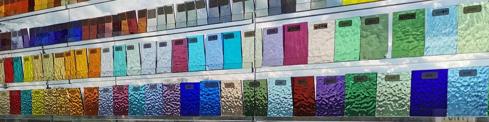 gekleurde glassoorten deuren